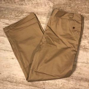 Sateen Khaki Dress Pants
